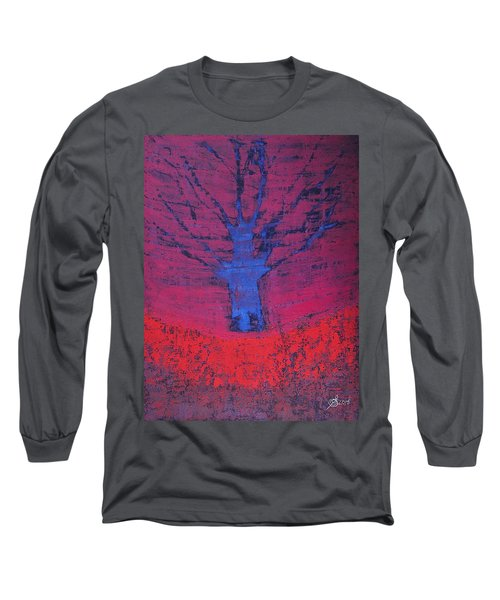 Disappearing Tree Original Painting Long Sleeve T-Shirt