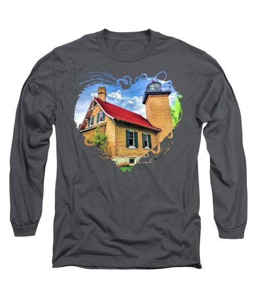 Door County Eagle Bluff Lighthouse Long Sleeve T-Shirt