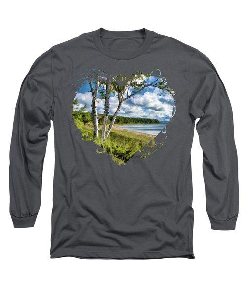 Door County Europe Bay Birch Long Sleeve T-Shirt