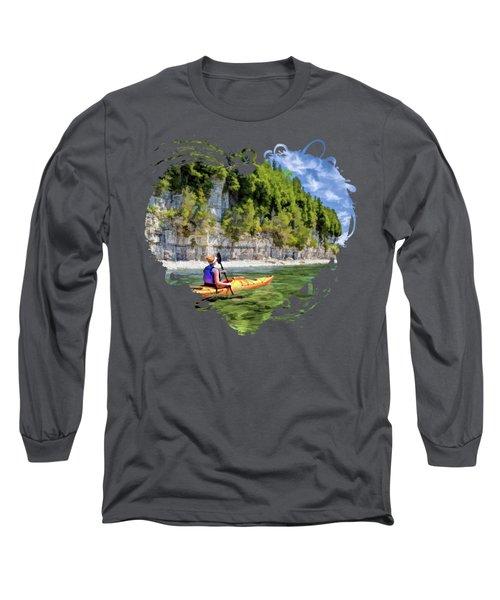 Door County Kayaking Around Rock Island State Park Long Sleeve T-Shirt