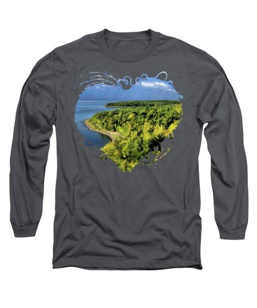 Door County Peninsula State Park Svens Bluff Overlook Long Sleeve T-Shirt