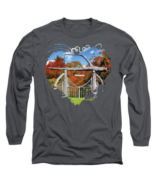 Door County Rock Island Japanese Garden Gate Long Sleeve T-Shirt