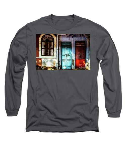 Doors Of India - Blue Door And Red Door Long Sleeve T-Shirt