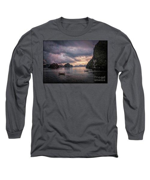 Dramatic Cloud Invade China Sea  Long Sleeve T-Shirt