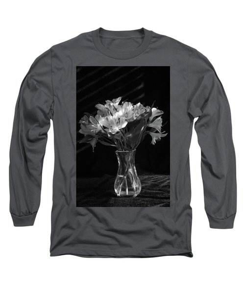 Dramatic Flowers-bw Long Sleeve T-Shirt