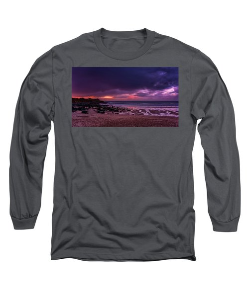 Dramatic Sky At Porthmeor Long Sleeve T-Shirt
