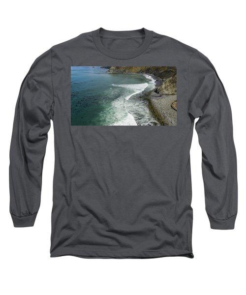 Drone Over Big Sur California Long Sleeve T-Shirt