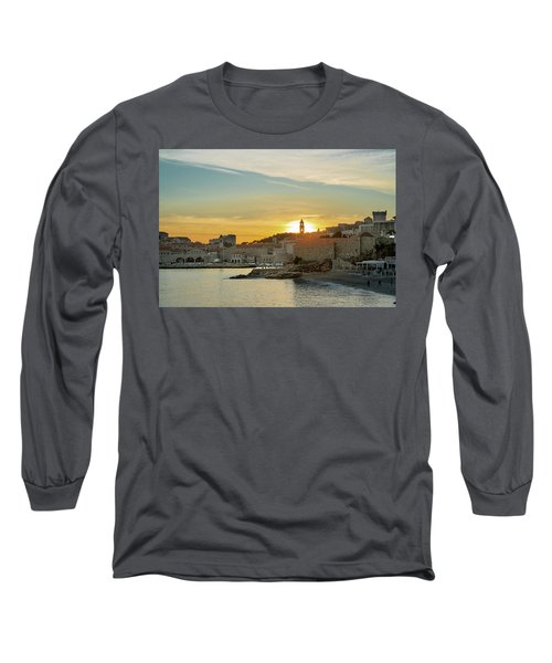 Dubrovnik Old Town At Sunset Long Sleeve T-Shirt