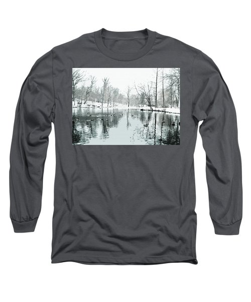Ducks Swimming In Winter Long Sleeve T-Shirt