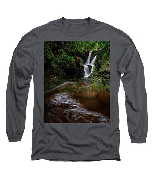 Duggers Creek Falls - Blue Ridge Parkway - North Carolina Long Sleeve T-Shirt