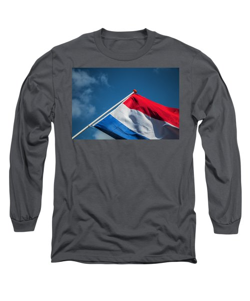 Long Sleeve T-Shirt featuring the photograph Dutch Flag by Anjo Ten Kate