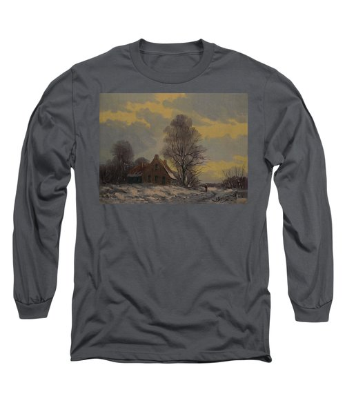 Dutch Snow Landscape Long Sleeve T-Shirt