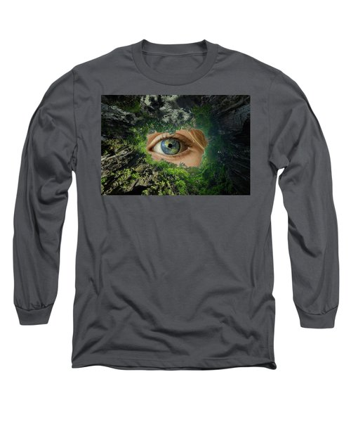 Earth Is Watching You Long Sleeve T-Shirt