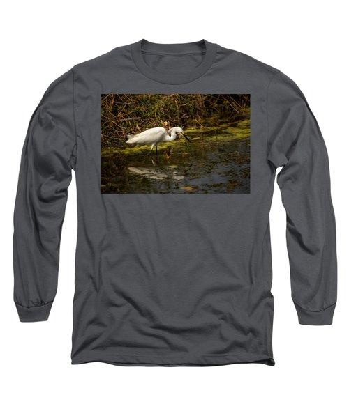 Egret Hunts Long Sleeve T-Shirt