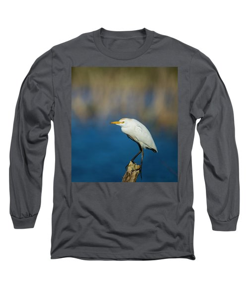 Egret On A Stick Long Sleeve T-Shirt