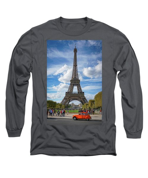 Long Sleeve T-Shirt featuring the photograph Eiffel Tower by Jim Mathis