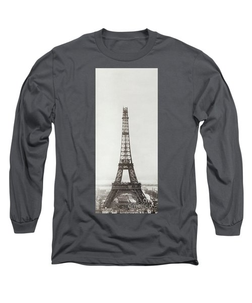 Eiffel Tower, Paris, 12th February And 12th March 1889 Long Sleeve T-Shirt