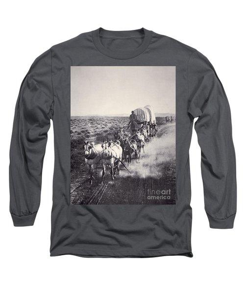 Eight Horse Heavy Freight Wagon Long Sleeve T-Shirt