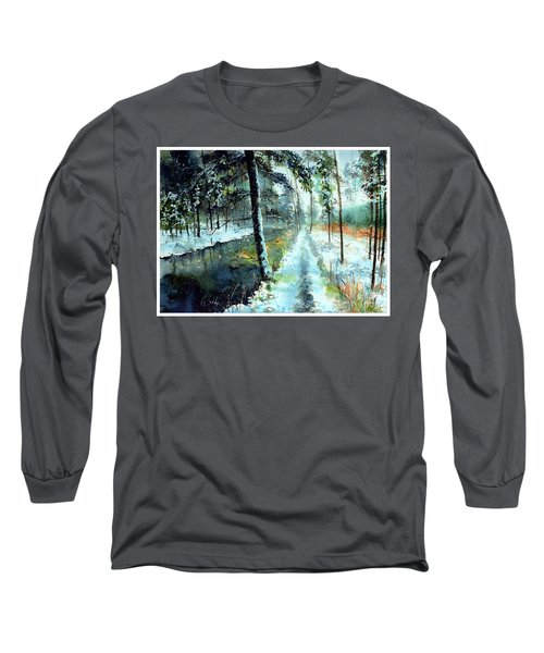 Emerald Winter Scene Long Sleeve T-Shirt