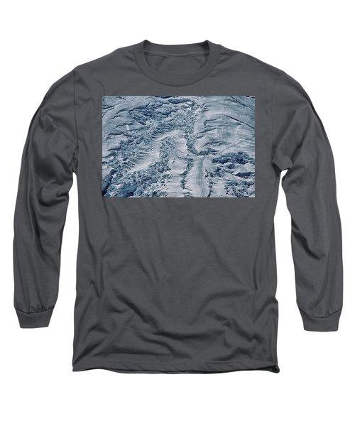 Emmons Glacier On Mount Rainier Long Sleeve T-Shirt