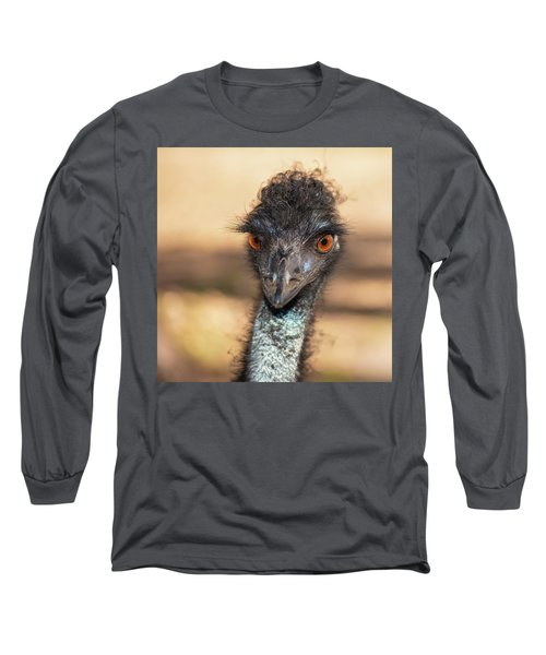 Emu By Itself Outdoors During The Daytime. Long Sleeve T-Shirt