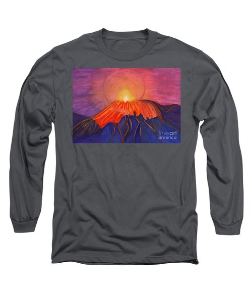 Glow Fading Volcano Long Sleeve T-Shirt