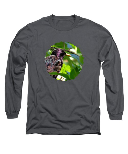 European Starling On A June Afternoon Long Sleeve T-Shirt