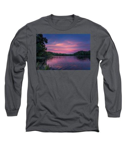 Evening At Springfield Lake Long Sleeve T-Shirt