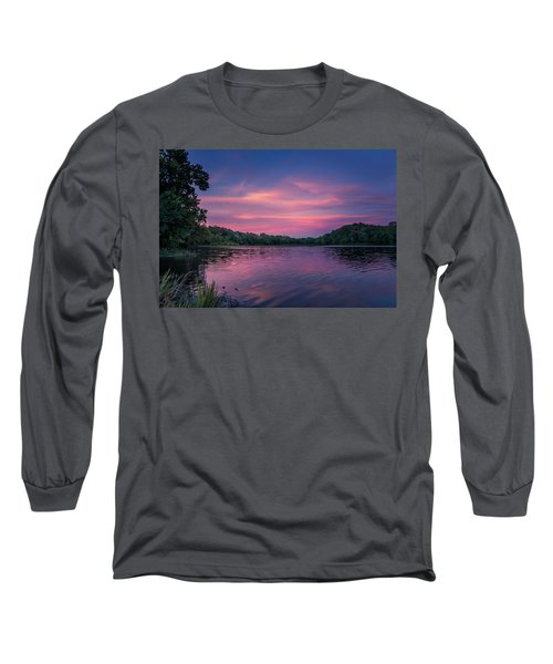Evening At Springfield Lake Long Sleeve T-Shirt