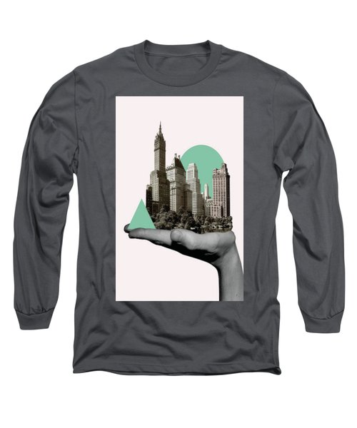 Exquisite Buildings On Palm Long Sleeve T-Shirt
