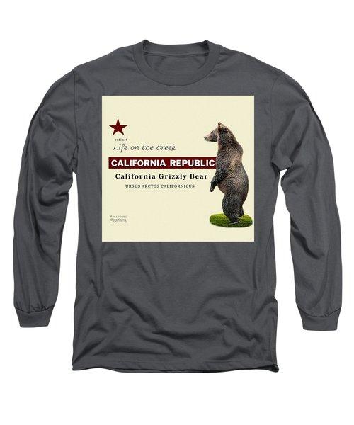 Extinct California Grizzly Bear Long Sleeve T-Shirt
