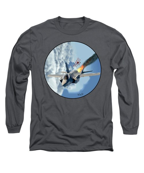F-35 Vs The Red Baron Long Sleeve T-Shirt