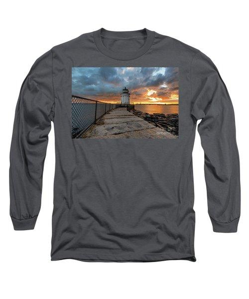 Fiery Skies At Bug Light Long Sleeve T-Shirt