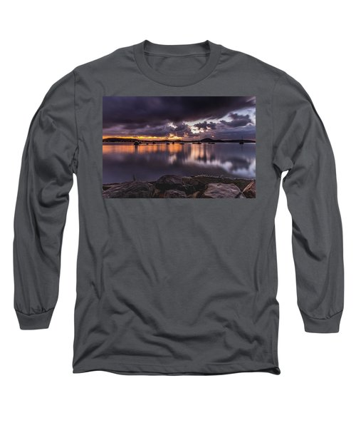 First Light With Heavy Rain Clouds On The Bay Long Sleeve T-Shirt