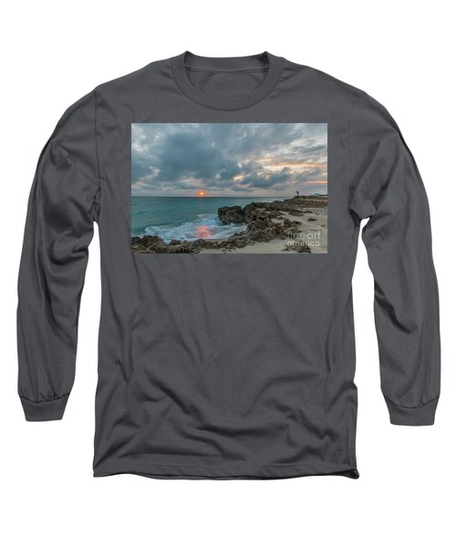 Fisherman On Rocks Long Sleeve T-Shirt