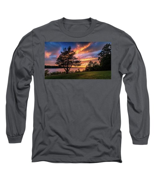Fishing At End Of Day Long Sleeve T-Shirt
