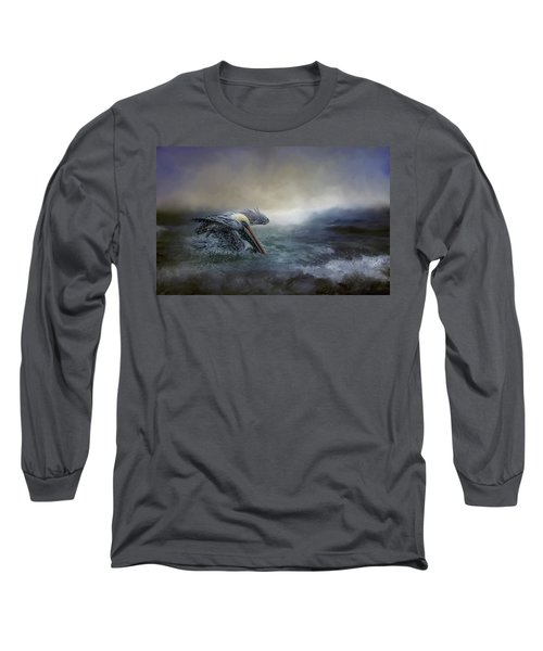 Fishing In The Storm Long Sleeve T-Shirt