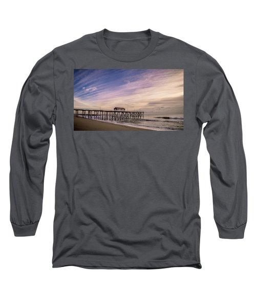 Fishing Pier Sunrise Long Sleeve T-Shirt