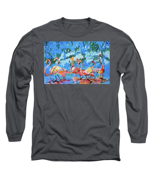 Flamingo Pat Party Long Sleeve T-Shirt