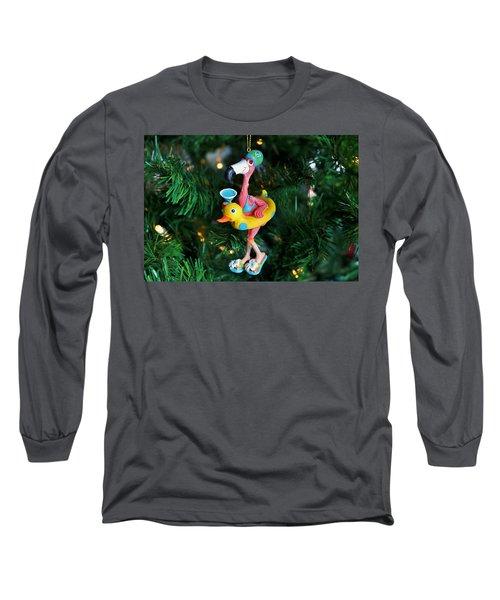 Flamingo Swimmer Long Sleeve T-Shirt