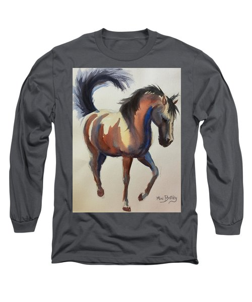 Flashing Bay Horse Long Sleeve T-Shirt