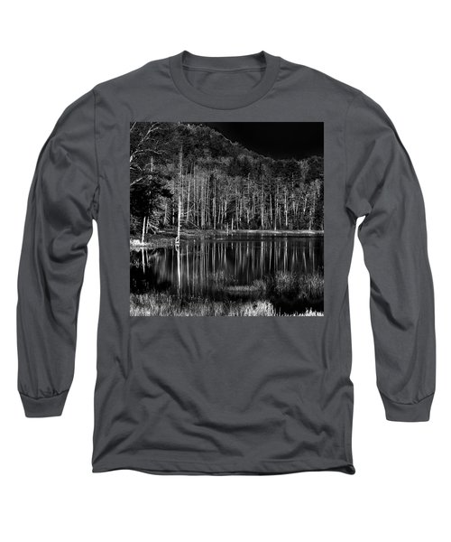 Long Sleeve T-Shirt featuring the photograph Fly Pond Reflection by David Patterson