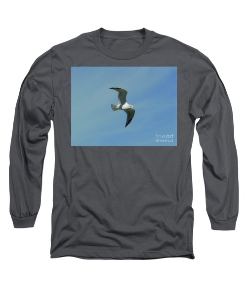 Long Sleeve T-Shirt featuring the photograph Flying Seagull by Rockin Docks