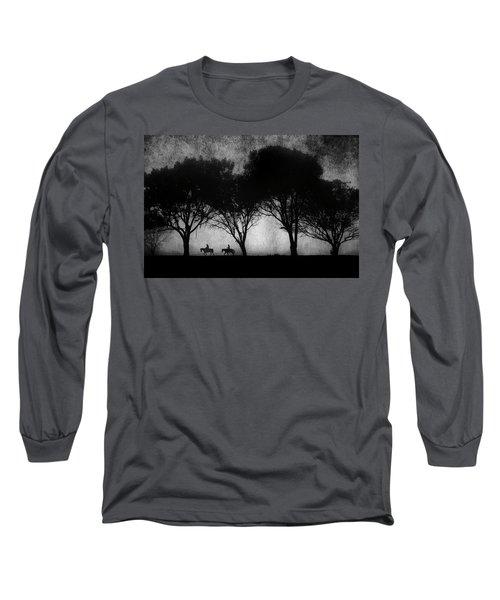 Foggy Morning Ride Long Sleeve T-Shirt