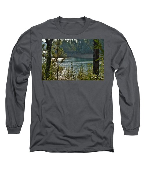 Forest Lake In Amendoa Long Sleeve T-Shirt