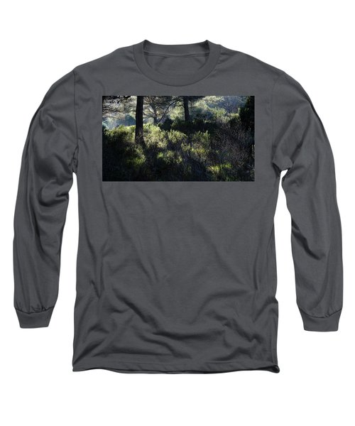 Long Sleeve T-Shirt featuring the photograph Forest Sun Play  by August Timmermans