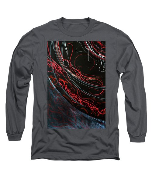 Formation. Calligraphic Abstract Long Sleeve T-Shirt