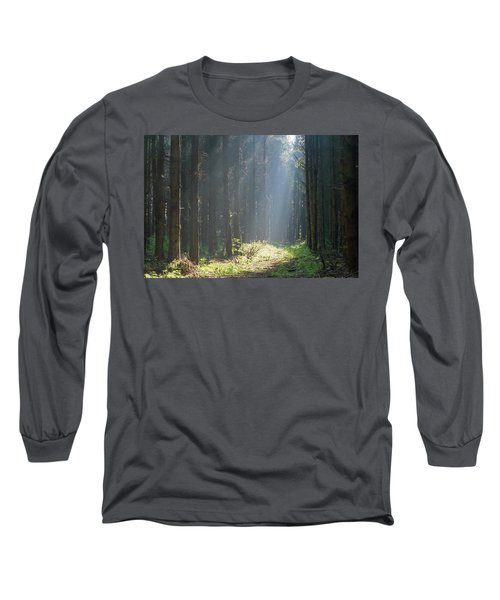 Long Sleeve T-Shirt featuring the photograph Forrest And Sun by Anjo Ten Kate