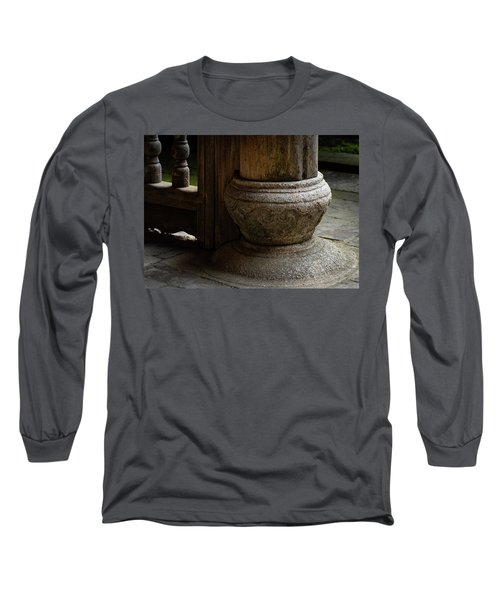 Foundation Stone Under Wooden Pole Used In Chinese Architecture Long Sleeve T-Shirt