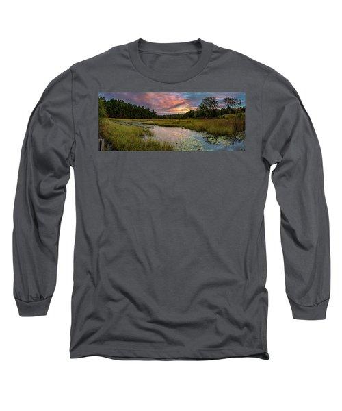 Friendship Panorama  Sunrise Landscape Long Sleeve T-Shirt